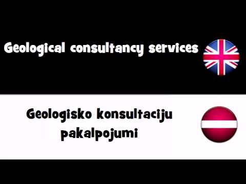 VOCABULARY IN 20 LANGUAGES = Geological consultancy services