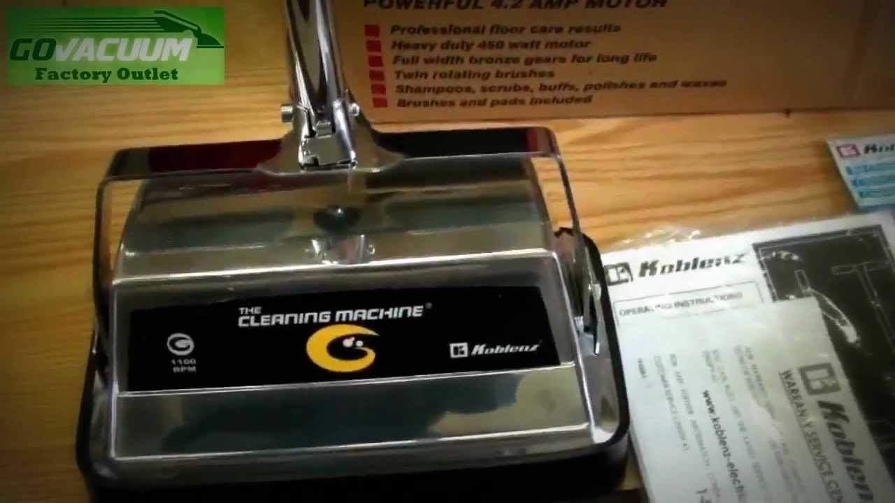 Koblenz P1800 Floor Buffer And Scrubber Unboxing Review