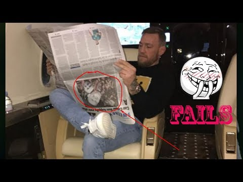 Conor McGregor reads the newspaper upside down as UFC lightweight champion jets out of Ireland