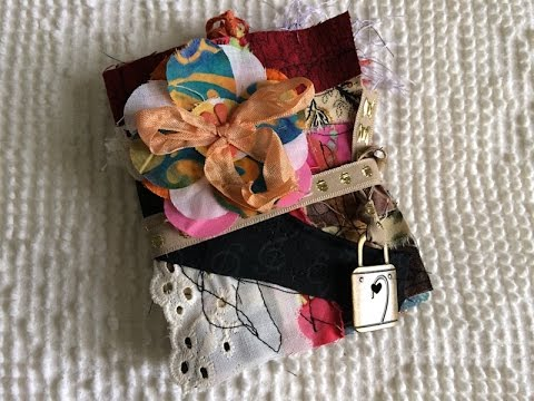Fabric Scraps Journal - Cute, Fun and Easy