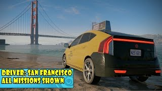 Watch Dogs 2 - Driver: San Franciso - All Missions Shown | Open World Free Roam Gameplay (PC HD)