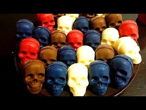 DIY Chocolate Skulls, Chocolate Desserts,