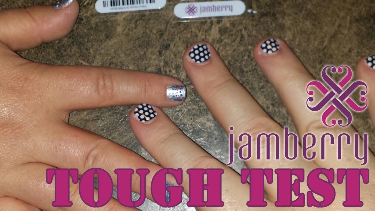 TOUGH TEST - How TOUGH are Jamberry Nail Wraps? - YouTube