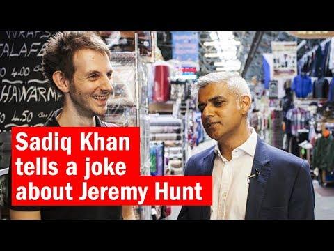 Sadiq Khan tells a joke about Jeremy Hunt