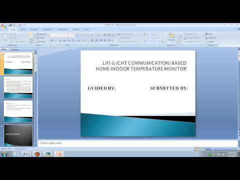 SD IEEE EMBEDDED 2015 LIFI (LIGHT COMMUNICATION) BASED HOME INDOOR TEMPERATURE MONITOR