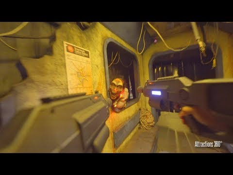 [4k] INFECTED: Interactive Shooting  Zombies Maze  - Knott's Scary Farm 2017