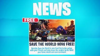 "FORTNITE ""SAVE THE WORLD FREE"" RELEASE DATE! (SAVE THE WORLD for FREE)"
