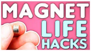 🧲 Amazing MAGNET Life Hacks   6 Useful DIY Neodymium Magnets tricks