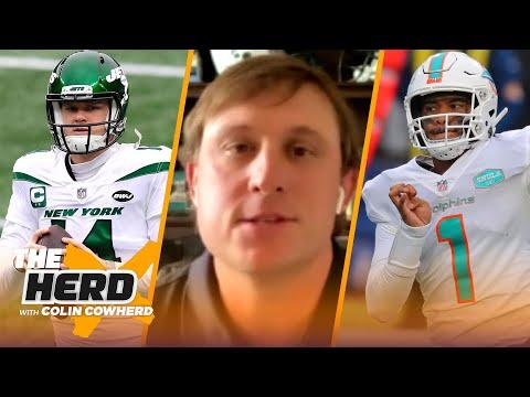 Chad Pennington on Sam Darnold in Carolina, Miami committing to Tua, Mac Jones   NFL   THE HERD