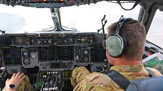 U.S. Air Force C-17 Globemaster III Take Off, Cockpit View • Joint Base Charleston