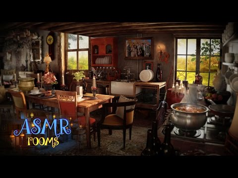 Harry Potter Inspired ASMR - the Burrow - Weasley's house kitchen Ambience and Animations