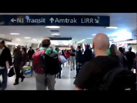Rush Hour Crowd at LIRR Hub of Pennsylvania station, New York, USA.
