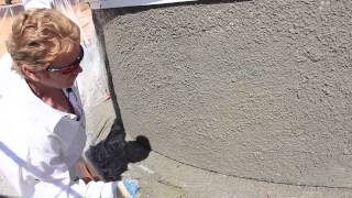 Pebble Plaster Dash finish for a stucco turret