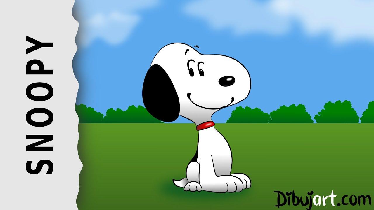 Cómo dibujar a Snoopy #1 — Nueva Película Peanuts Movie by dibujart