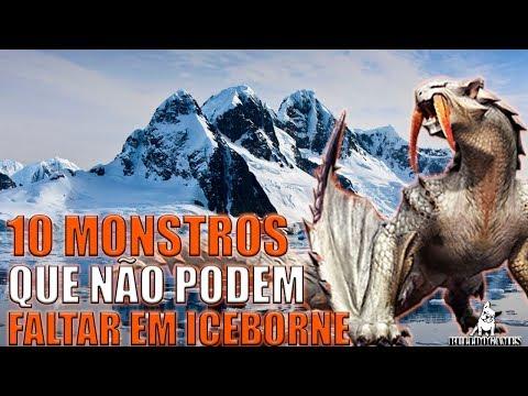 Monster Hunter World - 10 MONSTROS QUE NÃO PODEM FALTAR EM ICEBORNE! thumbnail