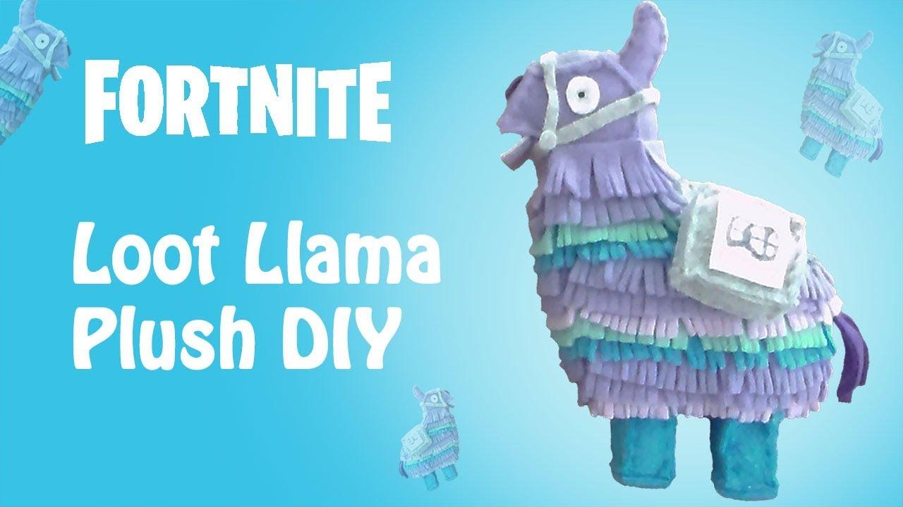 Fortnite Loot Llama Plush DIY - YouTube
