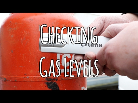 TIPS - Checking gas level in the caravan or motorhome - YouTube