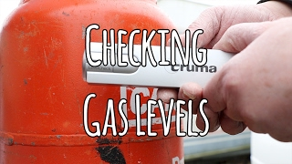 Checking gas level in the caravan or motorhome