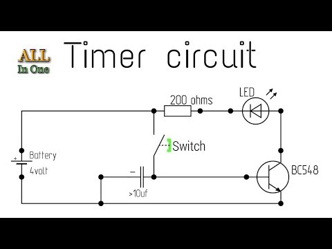How to make a timer circuit with BC548 transistor || by es