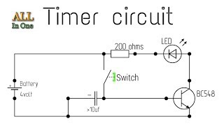 How to make a timer circuit with BC548 transistor || by all in one channel