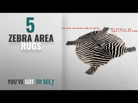 Top 10 Zebra Area Rugs [2018 ]: Area Rug Faux Zebra Print Rug 4x4.6 Feet Rug/Mat/Carpets For Home