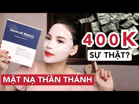 REVIEW MẶT NẠ 400K DERM ALL MATRIX   Có xứng đáng hay không ??? Ha Linh Official