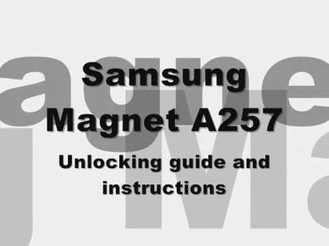 How to Unlock Samsung Magnet SGH-A257 Cingular At&t ATT Rogers Sim Code Instructions