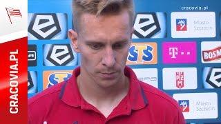 Jakub Wójcicki po meczu Pogoń Szczecin - Cracovia (27.08.2016)