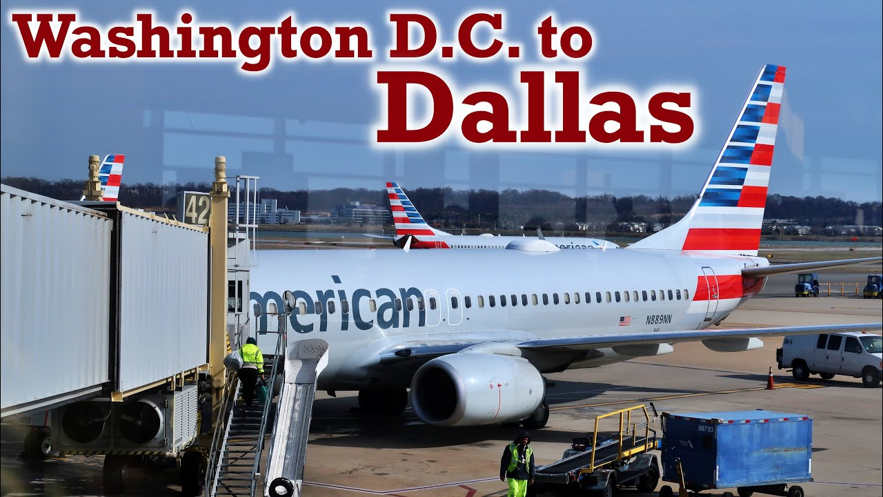 Full Flight: American Airlines B737-800 Washington D.C. to Dallas (DCA-DFW)