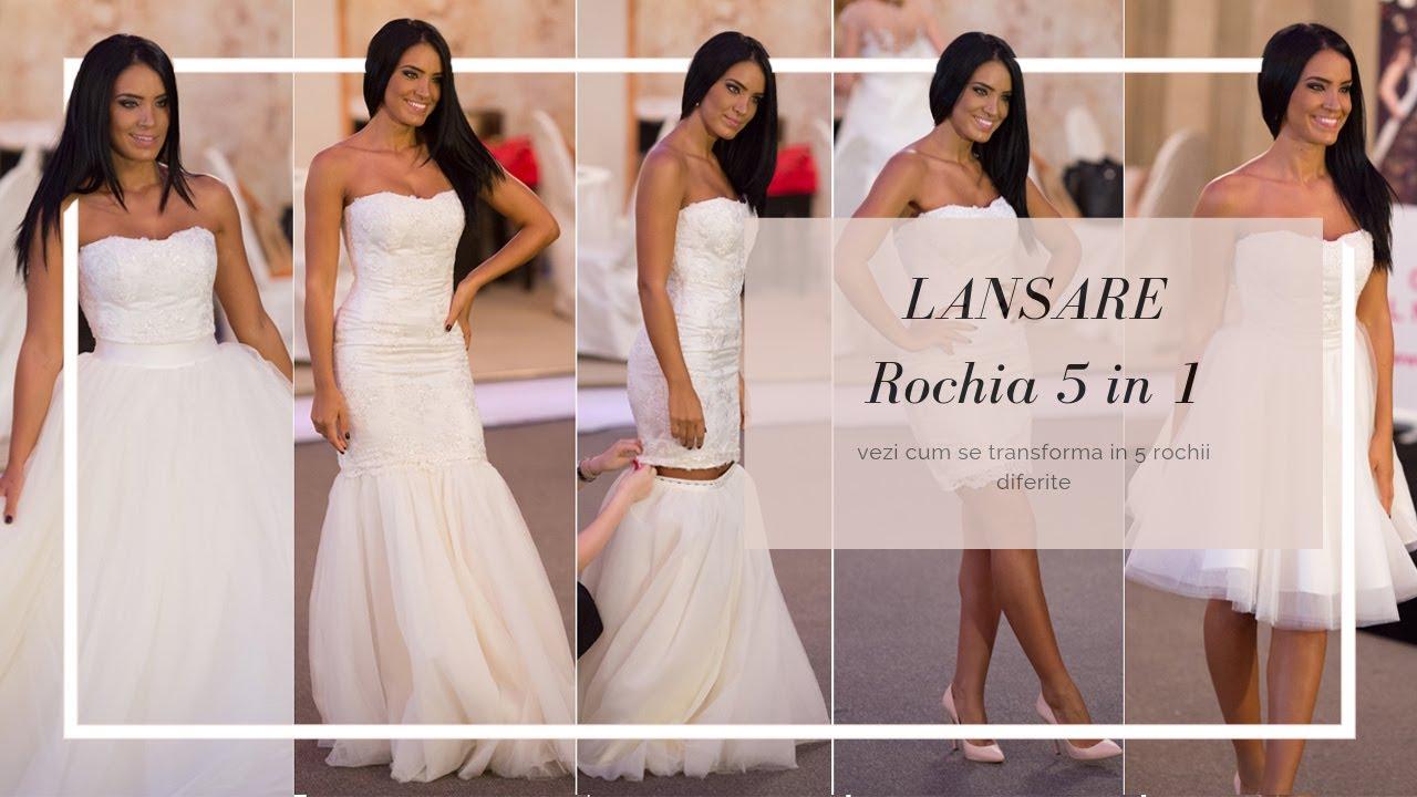 Rochia De Mireasa 5 In 1 Youtube