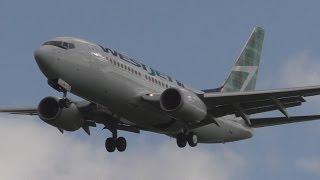 *Inaugural Flight* Westjet Boeing 737-700 Landing & Takeoff at Glasgow Airport