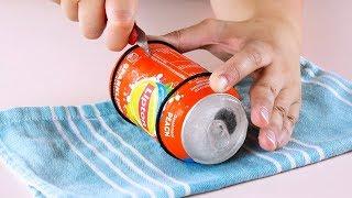 Veja só como estas latas ficam muito legais no jardim!