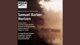 Serenade For String Orchestra, Op 1 - I Un Poco Adagio