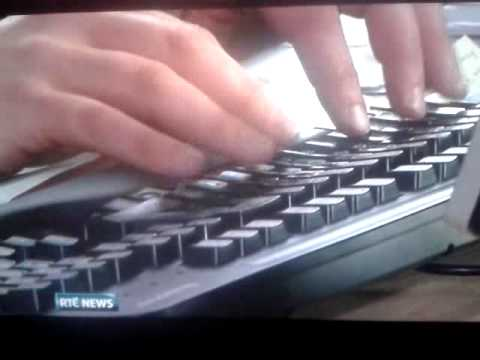 RTE News: Award winning fake typing.