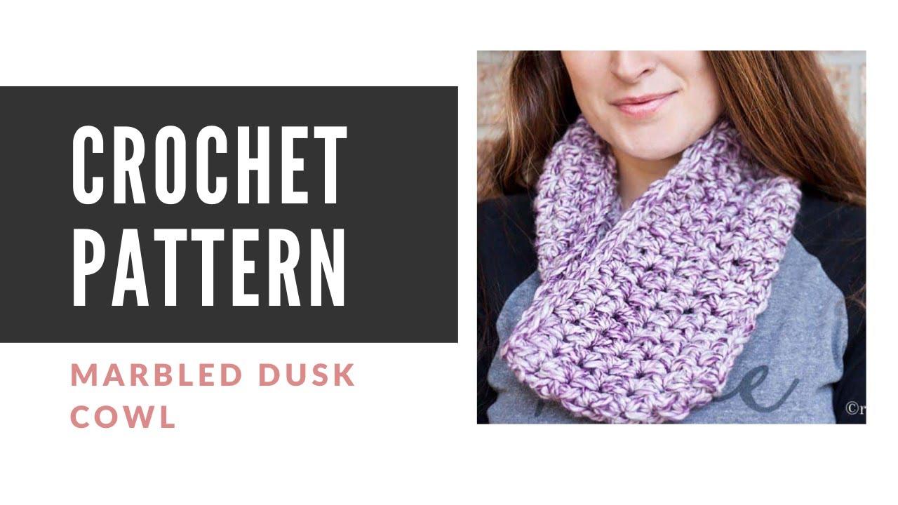 Easy Beginner Crochet Cowl Pattern - Free Crocheted Scarf / Cowl
