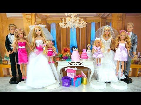 Barbie I Can Be A Bride Wedding Dress Playset Rapunzel Gaun pengantin boneka Barbie Vestido de noiva thumbnail