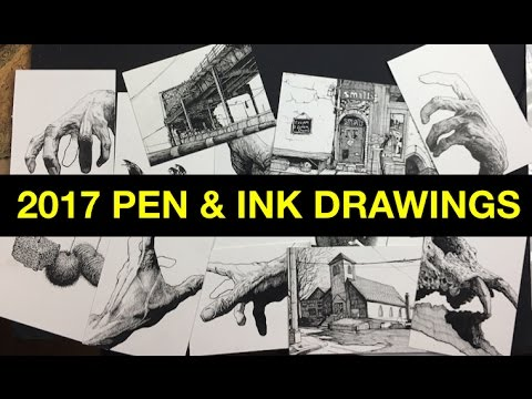 2017 | Some Recent Pen & Ink Drawings Tour