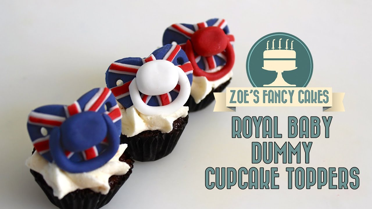 Royal Baby Dummy Cake Toppers Pacifier Cupcake Toppers Fondant Baby Dummies