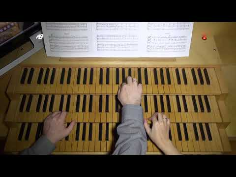 "The Russian-Italian Organ Duo plays ""Russian"" (from ""Five Slavic Folk Songs"") by Andrey Byzov"