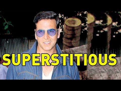 Holiday Movie  What is Akshay Kumar superstitious about ?