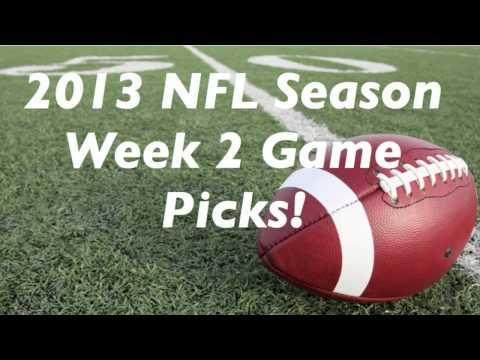 2013 NFL Football Season Week 2 Game Picks