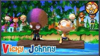 Vicky & Johnny | Episode 75 | LOG ROLLING | Full Episode for Kids | 2 MIN