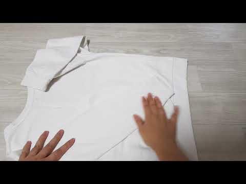 [생활 Tip] 긴팔 티셔츠 개는 법 - 티셔츠 예쁘게 개기