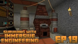 Surviving With Immersive Engineering :: Ep.19 - Improved Blast Furnace Preheater And Railgun