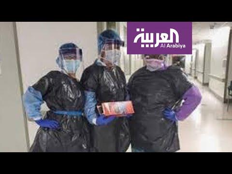 طبيب أميركي: مرضى كورونا يفترشون الطرقات بالمشفى.. ونستخدم أكياس القمامة ككمامات  - نشر قبل 2 ساعة