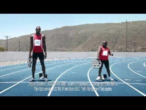 Usain Bolt and Richard Branson in Virgin Media: Speed TV advert (UK)