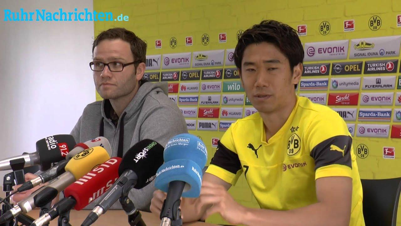 Pool-Interview mit BVB-Spieler Shinji Kagawa