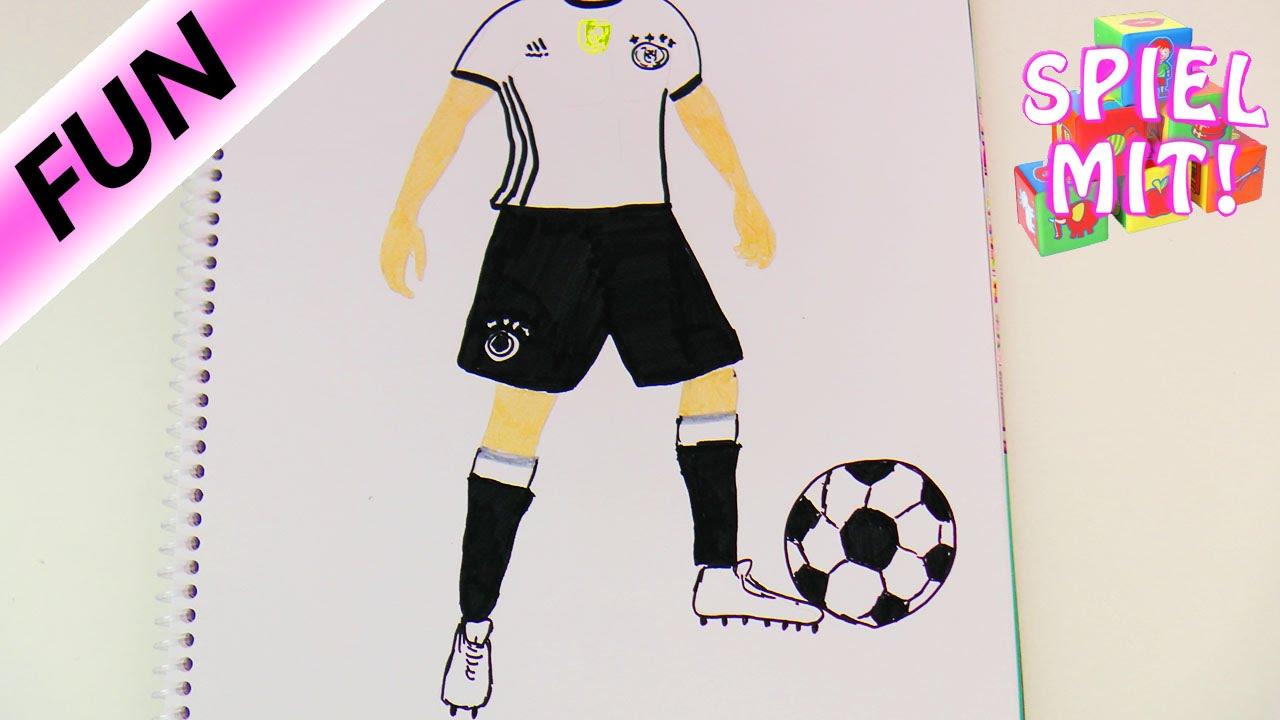 Fussballeuropameisterschaft Thomas Muller Deutschland Fussballer Malen