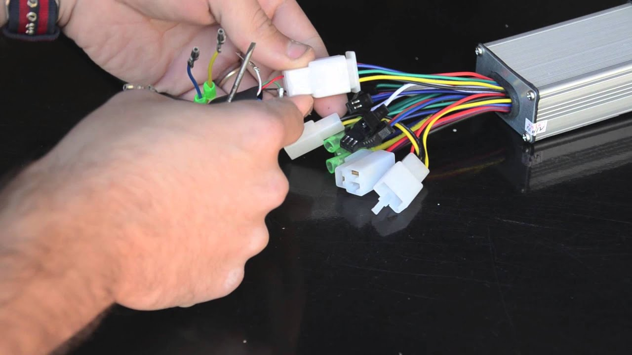 Installing a hall sensor connector for an electric bicycle conversion on