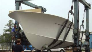 Spencer Yachts hull 172 move to wanchese